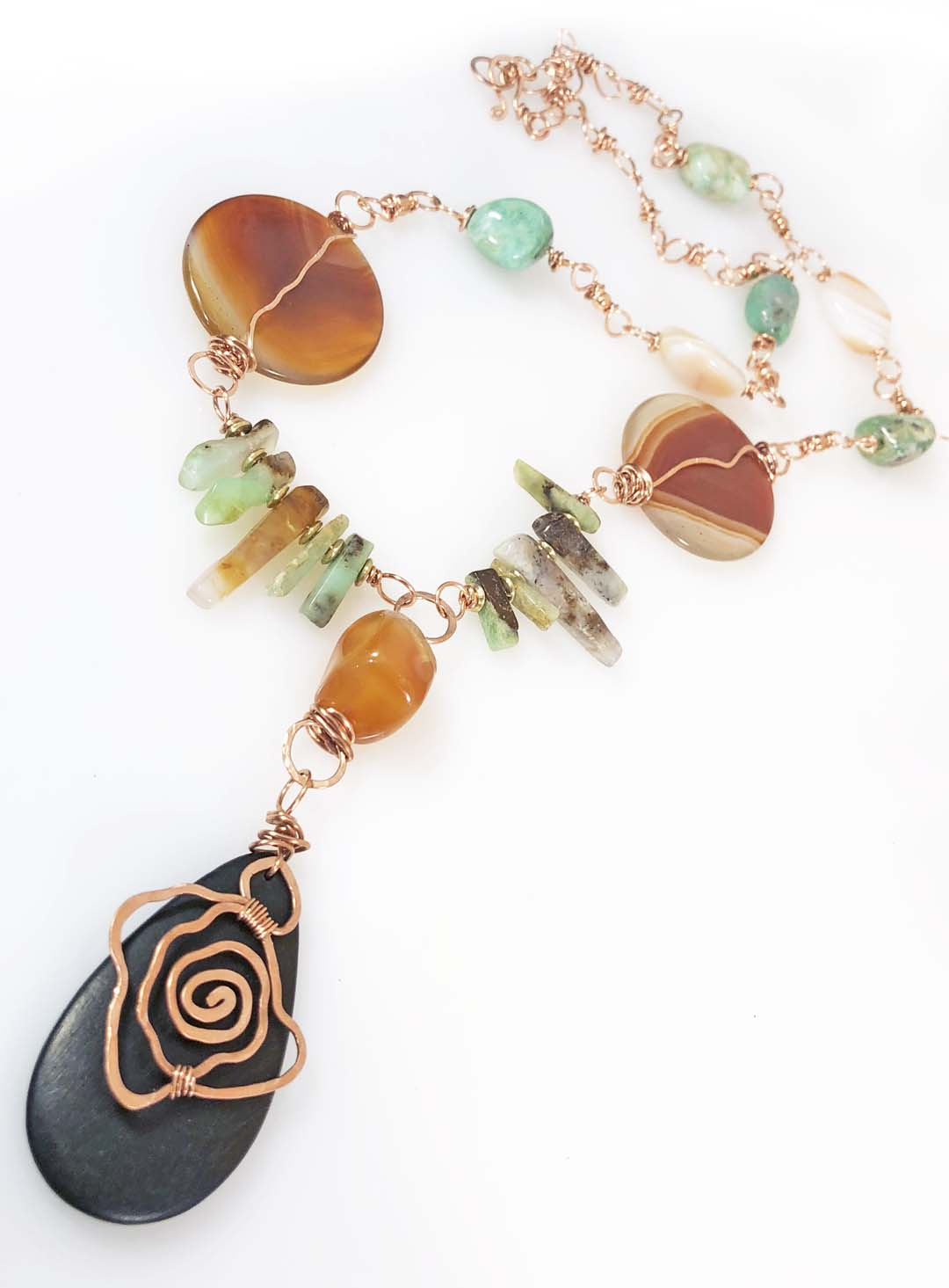 A New Day Agate Chrysoprase Necklace